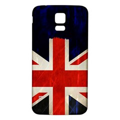 Flag Of Britain Grunge Union Jack Flag Background Samsung Galaxy S5 Back Case (white)