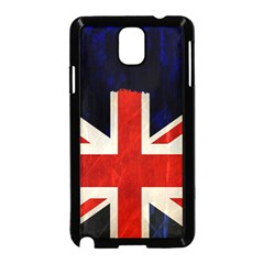 Flag Of Britain Grunge Union Jack Flag Background Samsung Galaxy Note 3 Neo Hardshell Case (black)
