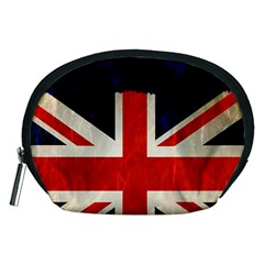 Flag Of Britain Grunge Union Jack Flag Background Accessory Pouches (medium)