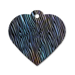 Abstract Background Wallpaper Dog Tag Heart (one Side) by Nexatart