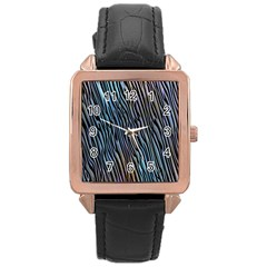 Abstract Background Wallpaper Rose Gold Leather Watch  by Nexatart