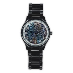 Abstract Background Wallpaper Stainless Steel Round Watch by Nexatart