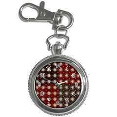 Decorative Pattern With Flowers Digital Computer Graphic Key Chain Watches by Nexatart