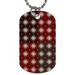 Decorative Pattern With Flowers Digital Computer Graphic Dog Tag (two Sides) by Nexatart