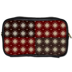 Decorative Pattern With Flowers Digital Computer Graphic Toiletries Bags 2 Side