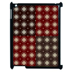 Decorative Pattern With Flowers Digital Computer Graphic Apple Ipad 2 Case (black)
