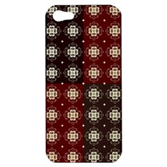 Decorative Pattern With Flowers Digital Computer Graphic Apple Iphone 5 Hardshell Case