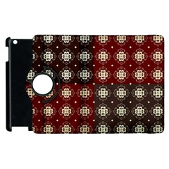 Decorative Pattern With Flowers Digital Computer Graphic Apple Ipad 2 Flip 360 Case by Nexatart