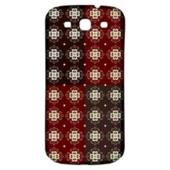 Decorative Pattern With Flowers Digital Computer Graphic Samsung Galaxy S3 S Iii Classic Hardshell Back Case