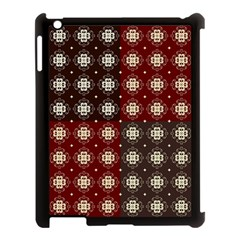 Decorative Pattern With Flowers Digital Computer Graphic Apple Ipad 3/4 Case (black) by Nexatart