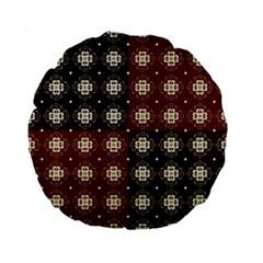 Decorative Pattern With Flowers Digital Computer Graphic Standard 15  Premium Round Cushions by Nexatart