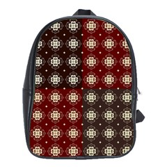 Decorative Pattern With Flowers Digital Computer Graphic School Bags (xl)  by Nexatart