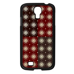 Decorative Pattern With Flowers Digital Computer Graphic Samsung Galaxy S4 I9500/ I9505 Case (black)