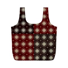 Decorative Pattern With Flowers Digital Computer Graphic Full Print Recycle Bags (m)