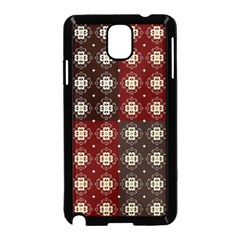 Decorative Pattern With Flowers Digital Computer Graphic Samsung Galaxy Note 3 Neo Hardshell Case (black)