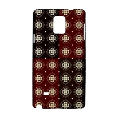 Decorative Pattern With Flowers Digital Computer Graphic Samsung Galaxy Note 4 Hardshell Case by Nexatart
