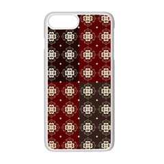 Decorative Pattern With Flowers Digital Computer Graphic Apple iPhone 7 Plus White Seamless Case by Nexatart