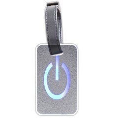 Close Up Of A Power Button Luggage Tags (one Side)