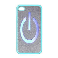 Close Up Of A Power Button Apple Iphone 4 Case (color)