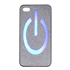Close Up Of A Power Button Apple Iphone 4/4s Seamless Case (black)