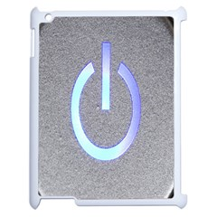 Close Up Of A Power Button Apple Ipad 2 Case (white) by Nexatart