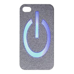 Close Up Of A Power Button Apple Iphone 4/4s Hardshell Case by Nexatart