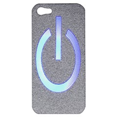Close Up Of A Power Button Apple Iphone 5 Hardshell Case