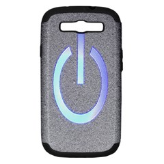 Close Up Of A Power Button Samsung Galaxy S Iii Hardshell Case (pc+silicone) by Nexatart