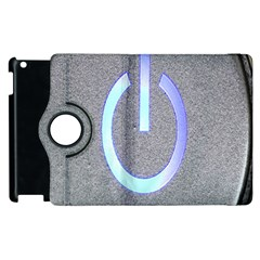 Close Up Of A Power Button Apple Ipad 2 Flip 360 Case by Nexatart