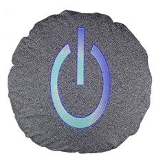 Close Up Of A Power Button Large 18  Premium Round Cushions