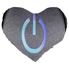 Close Up Of A Power Button Large 19  Premium Heart Shape Cushions
