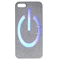 Close Up Of A Power Button Apple Iphone 5 Hardshell Case With Stand