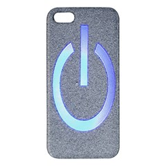 Close Up Of A Power Button Apple Iphone 5 Premium Hardshell Case by Nexatart