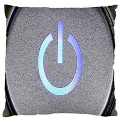 Close Up Of A Power Button Large Flano Cushion Case (two Sides) by Nexatart