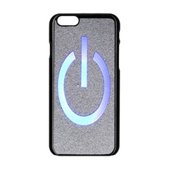 Close Up Of A Power Button Apple Iphone 6/6s Black Enamel Case by Nexatart