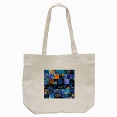 Blue Squares Abstract Background Of Blue And Purple Squares Tote Bag (cream) by Nexatart
