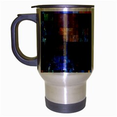 Blue Squares Abstract Background Of Blue And Purple Squares Travel Mug (silver Gray) by Nexatart