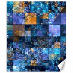 Blue Squares Abstract Background Of Blue And Purple Squares Canvas 20  X 24