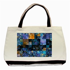 Blue Squares Abstract Background Of Blue And Purple Squares Basic Tote Bag (two Sides) by Nexatart