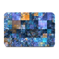 Blue Squares Abstract Background Of Blue And Purple Squares Plate Mats by Nexatart