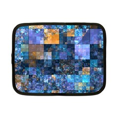 Blue Squares Abstract Background Of Blue And Purple Squares Netbook Case (small)  by Nexatart
