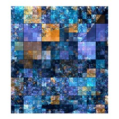 Blue Squares Abstract Background Of Blue And Purple Squares Shower Curtain 66  X 72  (large)  by Nexatart