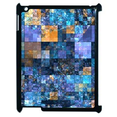 Blue Squares Abstract Background Of Blue And Purple Squares Apple Ipad 2 Case (black) by Nexatart