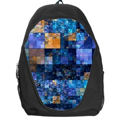 Blue Squares Abstract Background Of Blue And Purple Squares Backpack Bag by Nexatart