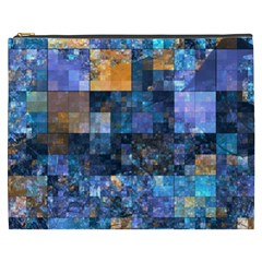 Blue Squares Abstract Background Of Blue And Purple Squares Cosmetic Bag (xxxl)  by Nexatart