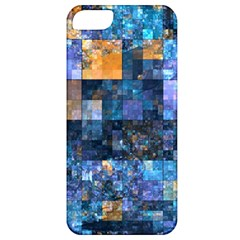 Blue Squares Abstract Background Of Blue And Purple Squares Apple Iphone 5 Classic Hardshell Case by Nexatart