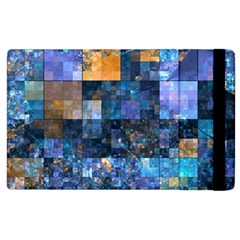 Blue Squares Abstract Background Of Blue And Purple Squares Apple Ipad 3/4 Flip Case by Nexatart