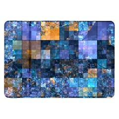 Blue Squares Abstract Background Of Blue And Purple Squares Samsung Galaxy Tab 8 9  P7300 Flip Case by Nexatart