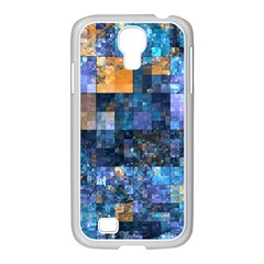 Blue Squares Abstract Background Of Blue And Purple Squares Samsung Galaxy S4 I9500/ I9505 Case (white) by Nexatart