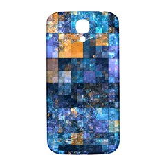 Blue Squares Abstract Background Of Blue And Purple Squares Samsung Galaxy S4 I9500/i9505  Hardshell Back Case